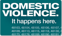 Domestic Violence - It happens here. Help us change the numbers.
